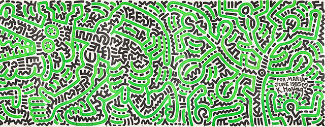 For Maria June 1985 av Keith Haring. Foto: Christian Habetzeder.