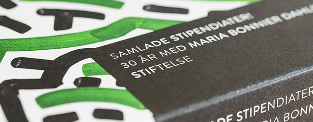Boken Samlade stipendiater! 30 år med Maria Bonnier Dahlins stiftelse.